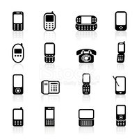 Mobile Phone,Telephone,Symb...