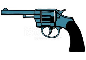 Handgun,Gun,Cartoon,Ilustra...