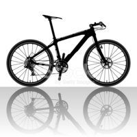 Bicycle,Silhouette,Vector,B...
