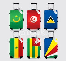 Luggage,National Flag,Trave...