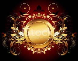 Gold Colored,Shield,Frame,h...