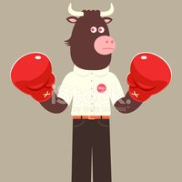 Boxing,Cow,Boxing Glove,Spo...