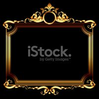 Gold Colored,Frame,Banner,M...