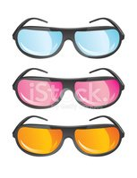 vector glasses in different colors