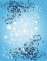 Floral Pattern,Blue,Composi...