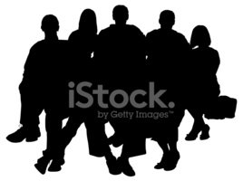 Large family portrait silhouette