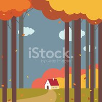 Autumn,House,Forest,Tree,Fa...