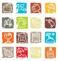 Travel,Symbol,Icon Set,Lugg...