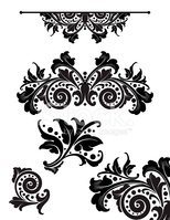 Paisley,filigree,Scroll Sha...