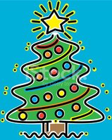 Christmas Clip Art North Star.Christmas Tree Decorated With North Star Stock Vectors