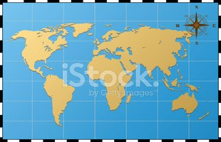 World Map With Compass Rose stock vectors   Clipart.me