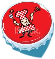 Chef,Barbecue,Bottle Cap,Co...