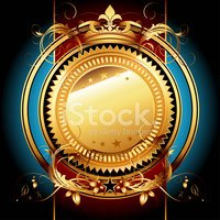 Shield,Frame,Gold Colored,h...
