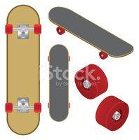 Skateboard,Wheel,Isometric,...