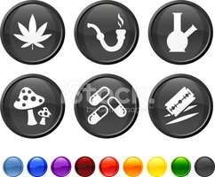 recreational drugs royalty free vector icon set clipart images recreational drugs royalty free vector