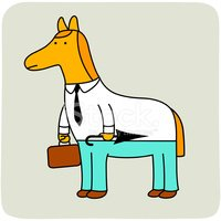 Horse,Business,Tail,Humor,V...