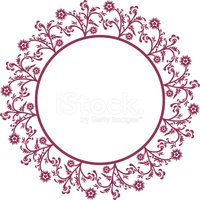 Frame,Flower,Ornate,Circle,...