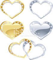 Heart Shape,Silver - Metal,...