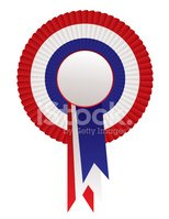 Award Ribbon,White,Blue,Re...