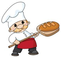 Baker,Bread,Cartoon,Chef,Ba...