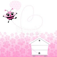 Bee,Backgrounds,Cute,Pink C...