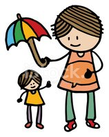 Umbrella,Assistance,Mother,...
