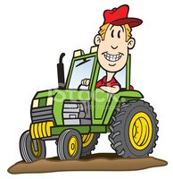 Tractor,Farmer,Cartoon,Agri...
