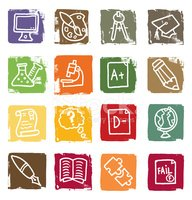 Education,Icon Set,Mortar B...
