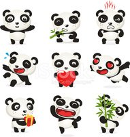 Panda,Cartoon,Emoticon,Anim...