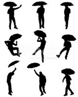 Umbrella,Silhouette,Men,Par...