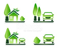 Car,House,Green Color,Symbo...