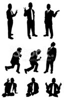 Men,Success,Silhouette,Suit...