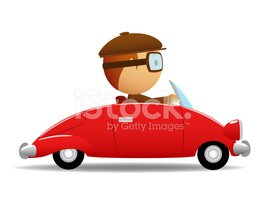Driver in the red car