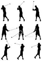 Golf,Silhouette,Golf Swing,...
