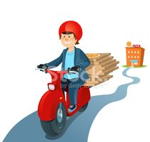 Delivering,Pizza,Motorcycle...