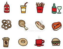 Food,Symbol,French Fries,Co...