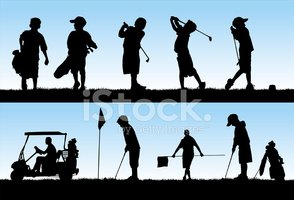 Golf,Child,Silhouette,Back ...