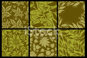 Seamless,Pattern,Herb,Leaf,...