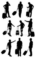 People Traveling,Silhouette...