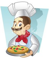Pizza,Chef,Baker,Cartoon,Me...