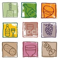 Wine,Symbol,Wine Bottle,Gra...