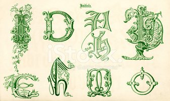 Dragon,Alphabet,Illuminated...