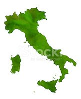 Italy,Map,Watercolor Paints...