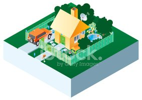 House,Infographic,Car,Rural...