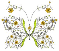 Butterfly - Insect,Art,Flow...