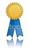 Award,Award Ribbon,Blue,Ve...