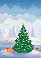 Christmas,Tree,Cartoon,Fir ...
