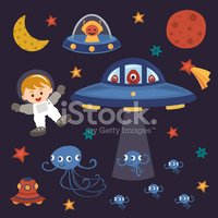 Space,Astronaut,Child,UFO,C...