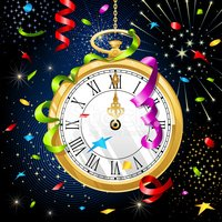 New Year Celebration - Midnight clock