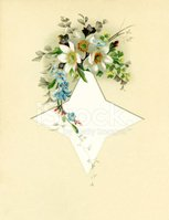 Victorian floral spray with star shape